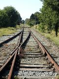 Old railroad junction Royalty Free Stock Image