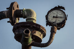Old Not Working Rusty Pressure Gauge Royalty Free Stock Images