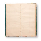 Old note book. Open blank page and  isolate on white background Stock Image