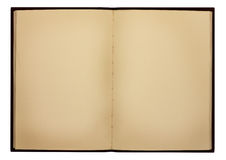 Old Note Book. Old hardback notebook with stained old pages Royalty Free Stock Photography