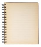 Old note book isolated on white. Stock Photography