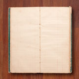 Old note book open blank page Stock Images