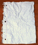 Old Note book paper on the desk Stock Photo