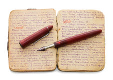 The old note book on a white background Royalty Free Stock Photography