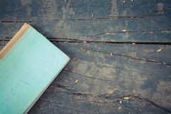 Old Note book on wood Stock Image