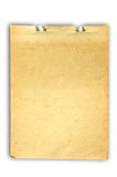 Old Note Paper. Old grungy piece of note paper with torn and folded edges. The file has a clipping path for easy removal from background royalty free stock photo