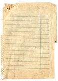 Old note paper background Royalty Free Stock Images