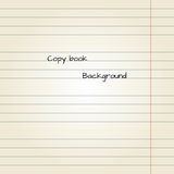 Old note paper background. Vector illustration. Copy book Stock Image