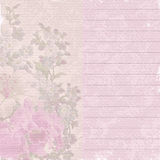 Old note paper with flowers Royalty Free Stock Image