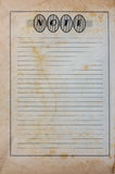 Old Note Paper. Old Paper Tuxture and background Royalty Free Stock Images