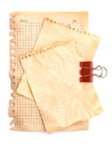 Old note papers Royalty Free Stock Photography