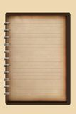 Old notebook Royalty Free Stock Photography