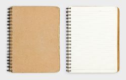 Old notebook. On white background Royalty Free Stock Photography