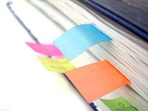 Old notebook with bookmarks Royalty Free Stock Images