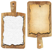 Old Notebook Cutting Boards Royalty Free Stock Photography
