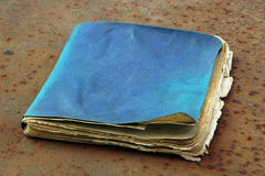 Old notebook. Lying on an old metal stock photography