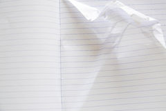 Old notebook page lined paper. Royalty Free Stock Photo
