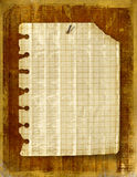 Old notebook sheet attached Royalty Free Stock Images