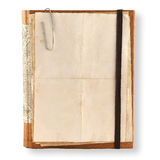 Old notebook  on a white Stock Image