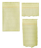 Old Notepad Paper Collection Royalty Free Stock Photo