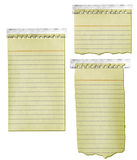 Old Notepad Paper with Tape Royalty Free Stock Photography