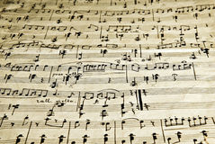 Old notes. The old musical notebook, old notes Royalty Free Stock Photos