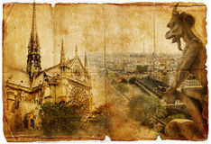 Old Notre dame Stock Photography