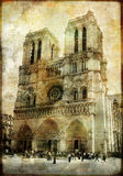 Old Notre dame Royalty Free Stock Images