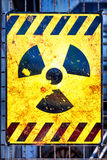 Old nuclear warning sign Royalty Free Stock Image