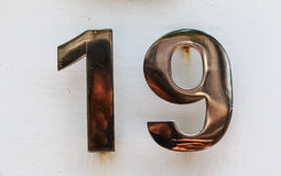Old Number Royalty Free Stock Photo