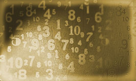 Old Numbers. A digital image of numbers generated on a computer Royalty Free Stock Images