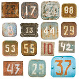 Old numbers background Royalty Free Stock Photos