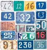 Old numbers background Royalty Free Stock Photography