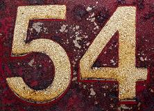 Old numbers. With grunge look Stock Photos