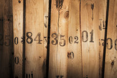 Old Numbers Stock Photography