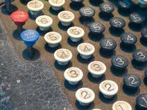 Old Numeric Keypad (2). Close Up of Old Fashioned Numbered Keypad Stock Photo