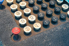 Old Numeric Keypad (3)). Close Up of Old Fashioned Numbered Keypad Royalty Free Stock Photography