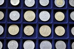Old numismatic coins royalty free stock images