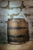 Old oak barrel Stock Images