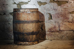 Old oak barrel Stock Image