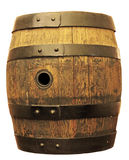 Old oak barrel isolated. On white background royalty free stock image