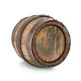 Old oak barrel. Isolated on white background stock photography