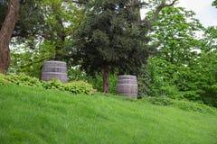 Old oak barrel Stock Photos