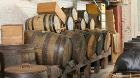 Old Oak Barrells Stock Photo