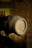 Old oak barrels Royalty Free Stock Image