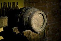 Old oak barrels Stock Images