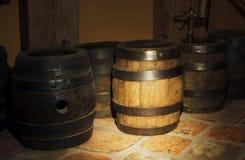 Old oak barrels Royalty Free Stock Photo