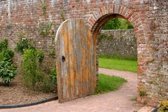 The Old Oak Door Stock Images