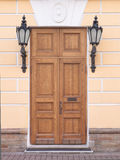 Old oak doors Royalty Free Stock Photo
