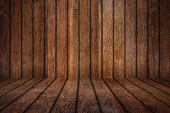 Old oak empty wooden room Royalty Free Stock Photo